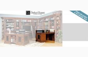 Leonardo 2pc Peninsula Desk