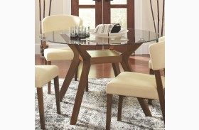Paxton Round Glass Dining Table