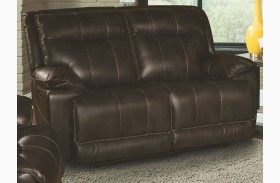 Phoenix Truffle Dual Power Reclining Loveseat