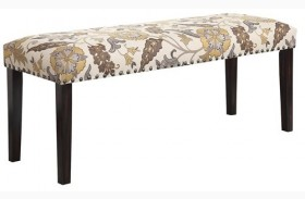 Matisse Floral Pattern Dining Bench