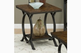 Harper's Press Dark Rustic Pine End Table