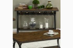 Harper's Press Dark Rustic Pine Sofa Table
