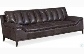 Kandor Black Leather Sofa