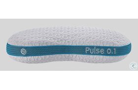 Pulse White And Blue Personal Performance Firm Pillow
