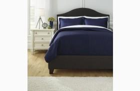 Raleda Navy Queen Comforter Set