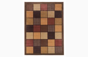 Patchwork Brown Rug 5' 2