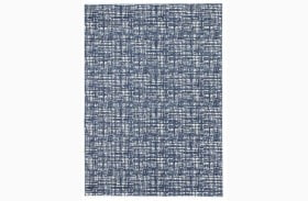 Norris Blue and White Medium Rug