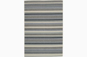 Troost Blue and Cream Large Rug