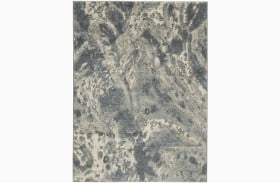 Jyoti Blue and Gray and Tan Large Rug