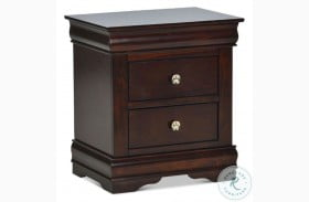 Orleans Cherry 2 Drawer Nightstand
