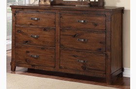 Restoration Rustic Walnut Dresser