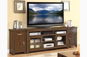 Restoration Rustic Walnut Extended TV Stand