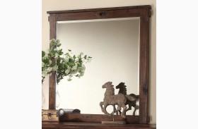 Restoration Rustic Walnut Mirror