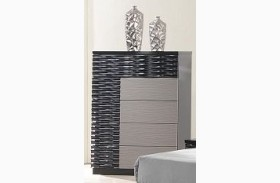 Roma Black and Grey Lacquer Chest