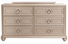 Dynasty Gold Metallic Drawer Dresser