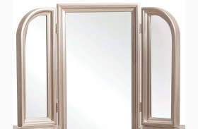 Dynasty Gold Metallic Vanity Tri View Mirror