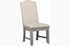 Prospect Hill Gray Upholstered Back Side Chair Set of 2