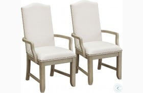 Prospect Hill Tan Upholstered Arm Chair Set of 2