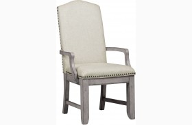 Prospect Hill Gray Upholstered Arm Chair Set of 2