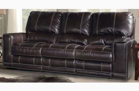 Salinger Sangria Dual Power Reclining Sofa