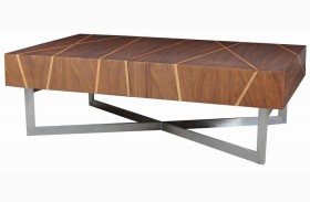Shadow Brushed Stainless Steel Coffee Table