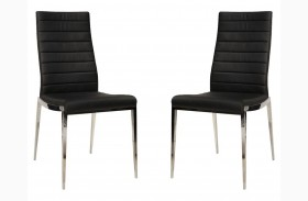Ritz Shine Black Synthetic Leather Dining Chair Set of 2