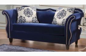 Zaffiro Royal Blue Loveseat