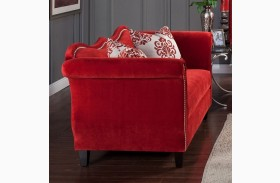 Zaffiro Ruby Red Loveseat