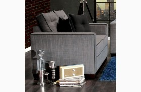 Ravel I Gray Fabric Loveseat
