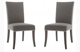 Soho Espresso Sepia Fabric Dining Chair Set of 2