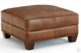 Silverado Caramel Brown Ottoman