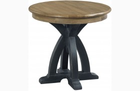 Stone Ridge Round Wood End Table