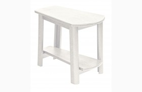 Generations White Tapered Accent Table