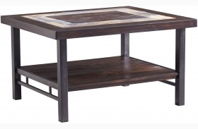 Gallivan Two-Tone Brown Rectangular Cocktail Table