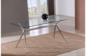T058 Glass Rectangular Dining Table