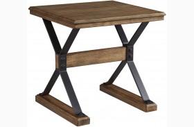 Flextura Light Brown Square End Table