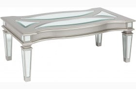 Tessani Silver Rectangular Cocktail Table