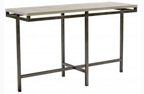 East Park Gunmetal Sofa Table