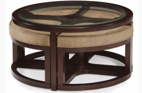 Juniper Round Cocktail Table with 4 stools
