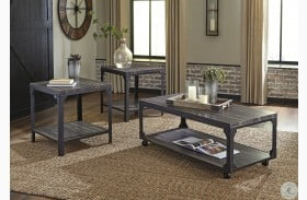 Jandoree Brown And Black Occasional Table Set