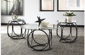 Quassey Black Occasional Table Set