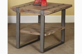 Mandolin Bay Washed Beach Rectangular End Table