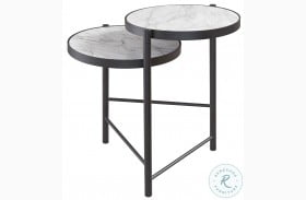 Plannore Black And White End Table