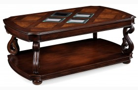Harcourt Rectangular Cocktail Table With Casters