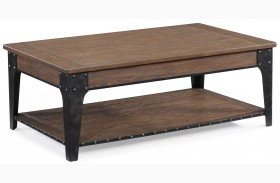 Lakehurst Rectangular Cocktail Table w/ lift top and casters