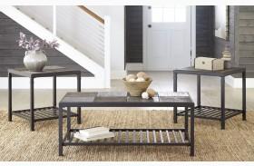 Chelner Dark Gray Occasional Table Set