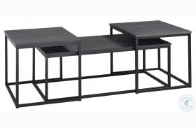 Yarlow Black 3 Piece Occasional Table Set