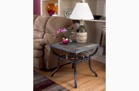 Antigo Grilled Shelf End Table