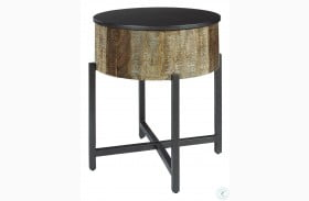 Bluemound Gray And Brown End Table