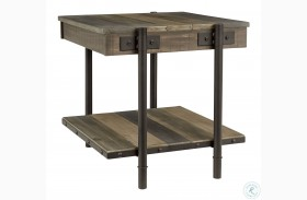 Bostweil Light Brown And Black End Table